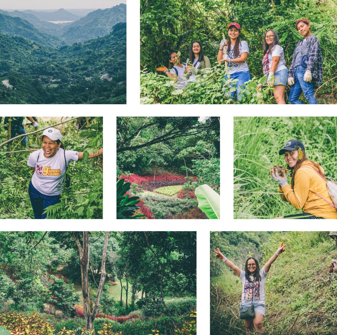 Equipes de Kor Landa dans le jardin de Lakeview Cebu